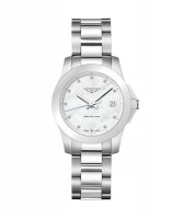 Longines Conquest Lady Quarz Damenuhr 34mm mit Perlmutt Zifferblatt L3.377.4.87.6