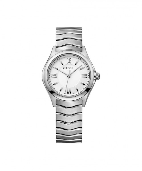Ebel Wave Lady Damenuhr silber 30mm Quarz Uhr 1216374 | Sale | UHREN01