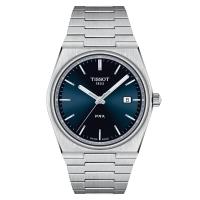 Tissot PRX Herrenuhr 40mm Quarz Grau Blau Edelstahl-Armband T137.410.11.041.00