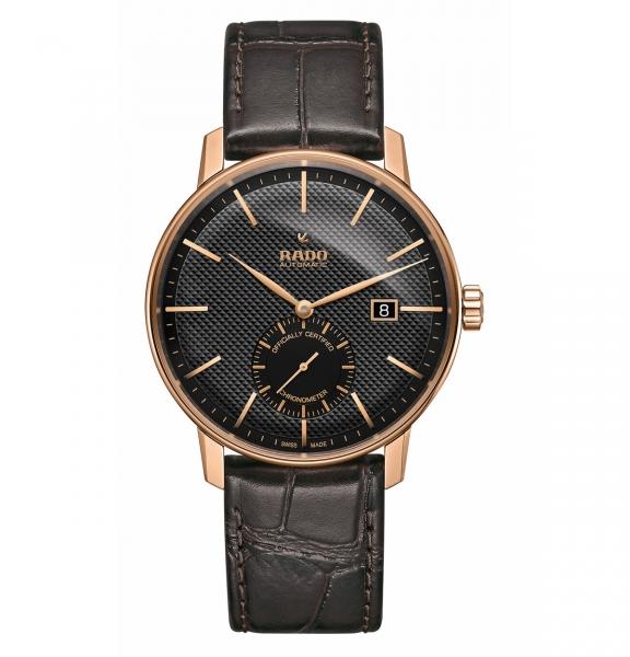 Rado Coupole Classic Automatic COSC Chronometer Schwarz Leder-Armband R22881165