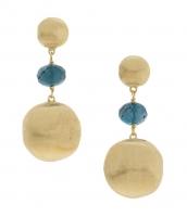 Marco Bicego Africa Ohrringe Gold mit blauen Topas Edelsteinen OB927-TPL01-Y | Schmuck Sale | UHREN01
