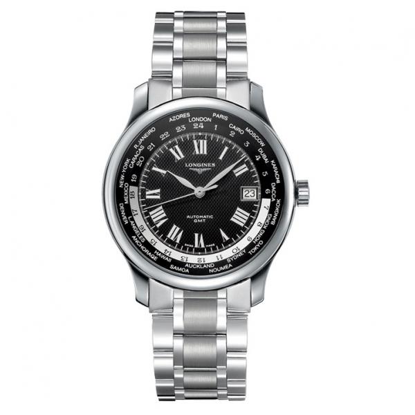 Longines Master Collection Automatic GMT World-Time mit schwarzem Zifferblatt 39mm L2.631.4.51.6