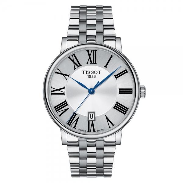Tissot Carson Premium Herrenuhr 40mm Silber Edelstahl-Armband Quarz T122.410.11.033.00