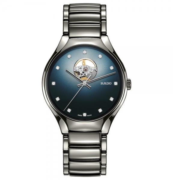 Rado True Secret Diamonds mit blauem Zifferblatt & Diamanten Automatik R27108732