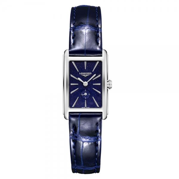 Longines DolceVita Damen Blau Leder-Armband 32mm Quarz L5.255.4.93.2 | Uhren01