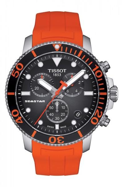 Tissot Seastar 1000 Chronograph T120.417.17.051.01 Orange Schwarz