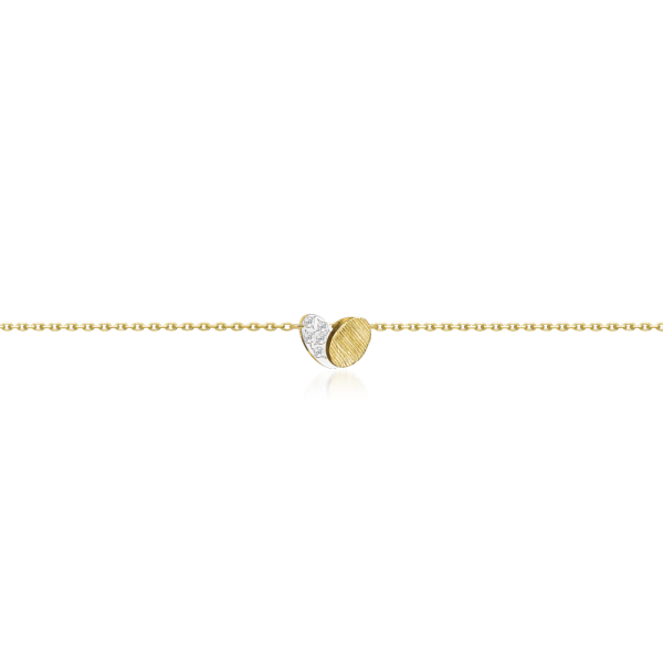 Luisa Rosas Armband Herz Gold mit Diamanten BE Armkette LRBE139