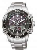 Citizen Herrenuhr Chronograph 44mm schwarzes Zifferblatt Analog & Digital-Anzeige Eco Drive Edelstahl-Armband Promaster Marine Yacht JR4060-88E zum...