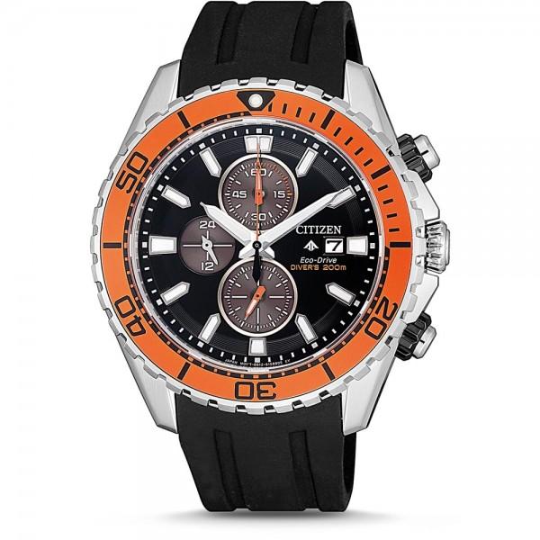 Citizen Promaster Marine Diver 200m Herren Taucheruhr schwarz orange CA0718-13E