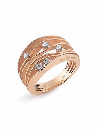 Annamaria Cammilli Damen Ring Essential Dune aus 750er rose Gold mit Brillanten 0,28ct GAN0914J