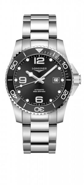 Longines HydroConquest Automatik 41mm Herren-Uhr Edelstahl schwarz L3.781.4.56.6 zum günstigen Preis online kaufen