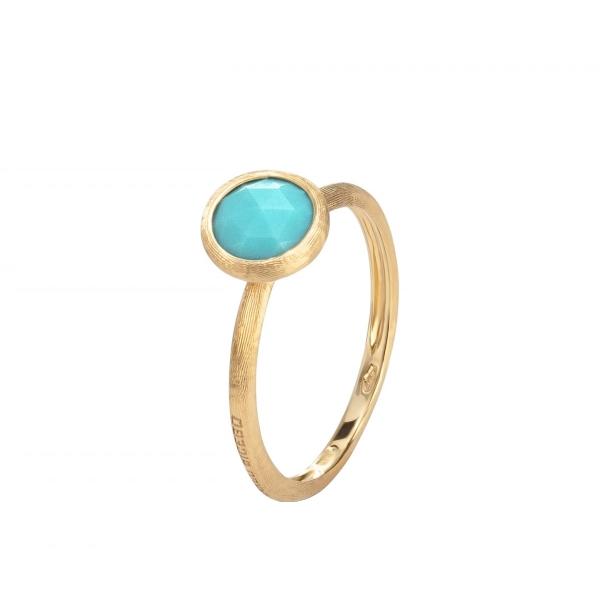 Marco Bicego Jaipur Ring Gold mit blauem Türkis Edelstein AB471 TU01