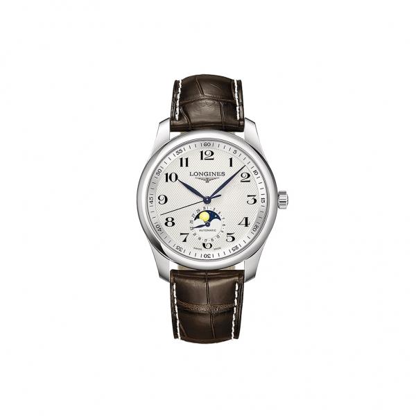 Longines Master Collection Mondphase Automatic 40mm Herrenuhr Leder-Armband braun L2.909.4.78.3 zum günstigen Preis online kaufen | UHREN01
