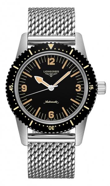 Longines Skin Diver Automatic Herrenuhr 42mm schwarz Edelstahl-Armband L2.822.4.56.6 zum günstigen Preis online kaufen | UHREN01