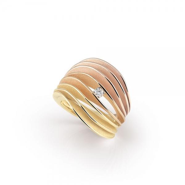 Annamaria Cammilli Ring Multicolor Gold mit Diamanten Dune Velaa GAN3217T