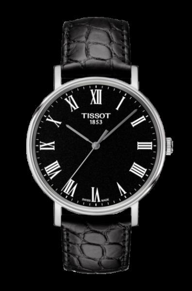 Tissot Everytime Medium Uhr 38mm schwarz Leder-Armband Quarz T109.410.16.053.00