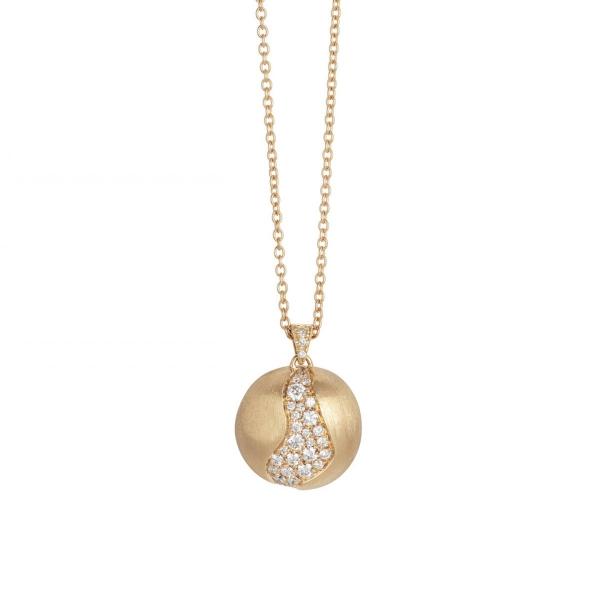 Marco Bicego Kette & Anhänger Diamanten Pavé Gold 18 Karat Africa CB2297 B2 Y