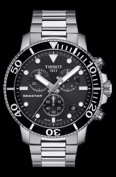 Tissot Seastar 1000 Chronograph schwarz Edelstahl-Armband Quarz T120.417.11.051.00