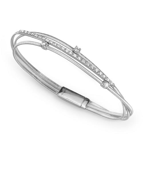 Marco Bicego Armband Goa Weißgold mit Diamanten 3 Stränge BG617 B2 W