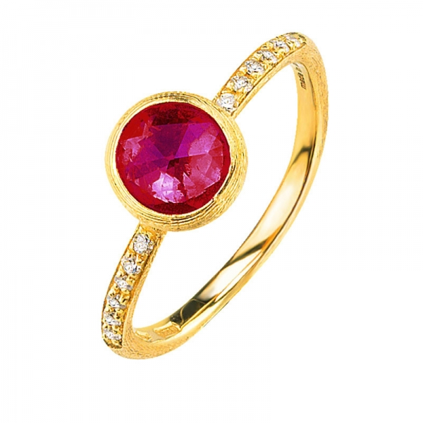 Marco Bicego Jaipur Ring mit rosa Turmalin & Diamanten Gold 18 Karat AB471-B-TR01