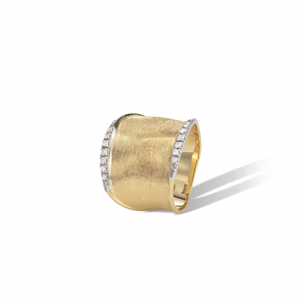 Marco Bicego Lunaria Ring Large Gelbgold mit Diamanten AB551-B-YW