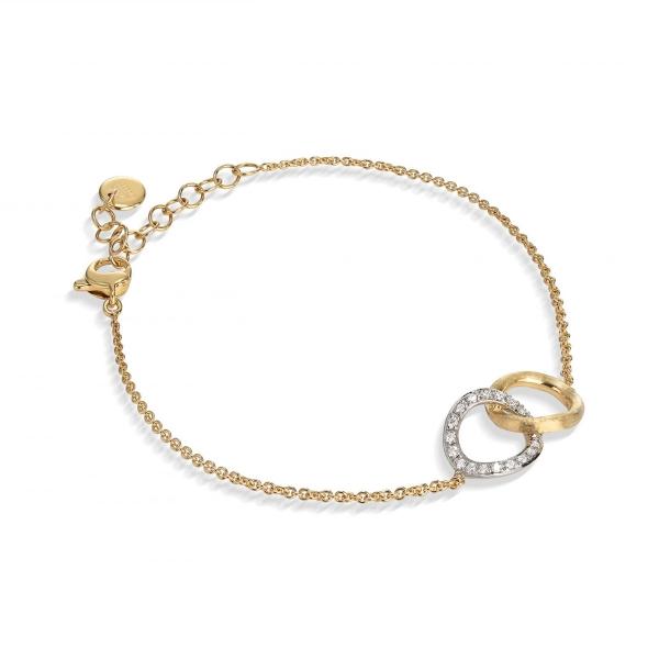 Marco Bicego Jaipur Link Armband Gold mit Diamanten BB1803 B YW