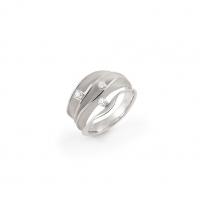 Annamaria Cammilli Ring DUNE aus 750er White Ice Weißgold mit 3 Brillanten GAN1942W