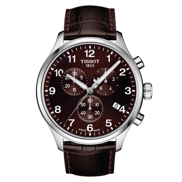 Tissot Chrono XL Classic Braun Leder-Armband Quarz 45mm Herrenuhr T116.617.16.297.00