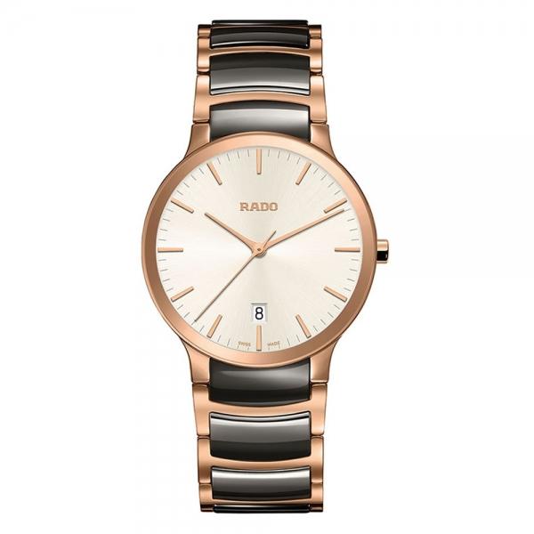 Rado Centrix S Bicolor Grau Rosegold Quarz Damen 28mm R30555022 | Uhren01