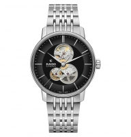Rado Coupole Classic Open Heart Automatic 41mm Silber Schwarz Edelstahl-Armband R22894153