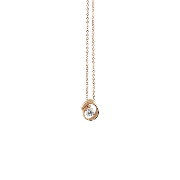 Annamaria Cammilli Halskette Orange Apricot Gold 18 Kt Anhänger mit Diamanten Dune Assolo GPE1547J | UHREN01