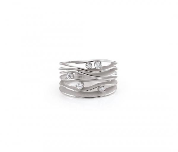 Annamaria Cammilli Ring Dune Weißgold White Ice mit 5 Diamanten GAN0914W