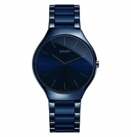 Rado True Thinline blau 39mm Nature Wasser Uhr Damen & Herren R27006912   Uhren01