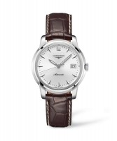Longines Saint-Imier Collection Automatik Herrenuhr mit Braunen Lederarmband L2.763.4.72.0