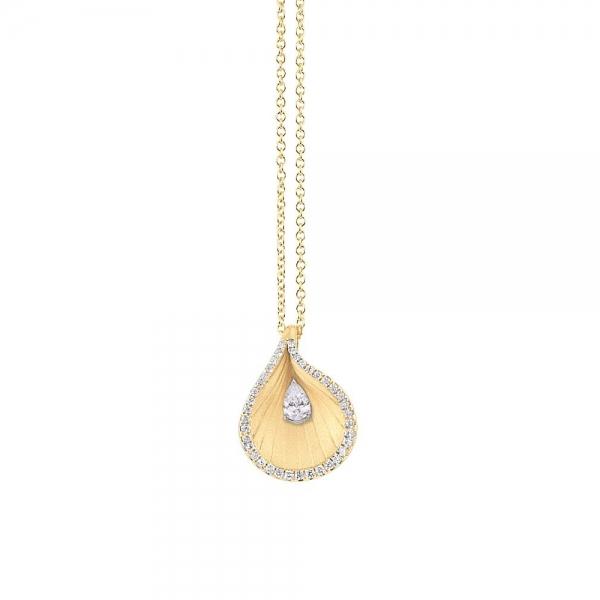 Annamaria Cammilli Halskette Premiere aus Yellow Sunrise Gold 18 Karat mit Diamanten Premiere GPE2102U | UHREN01