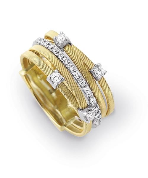 Marco Bicego Ring Goa Gelbgold mit Diamanten AG270 B2 YW M5