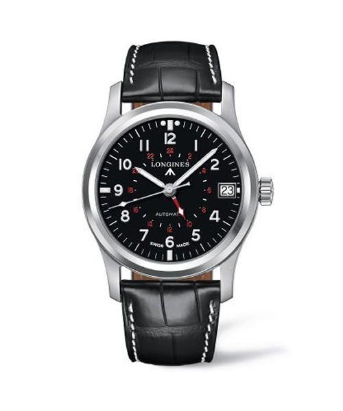 Longines Heritage Avigation Automatic 44mm Herrenuhr silber schwarz Leder-Armband L2.831.4.53.2 zum günstigen Preis online kaufen | UHREN01