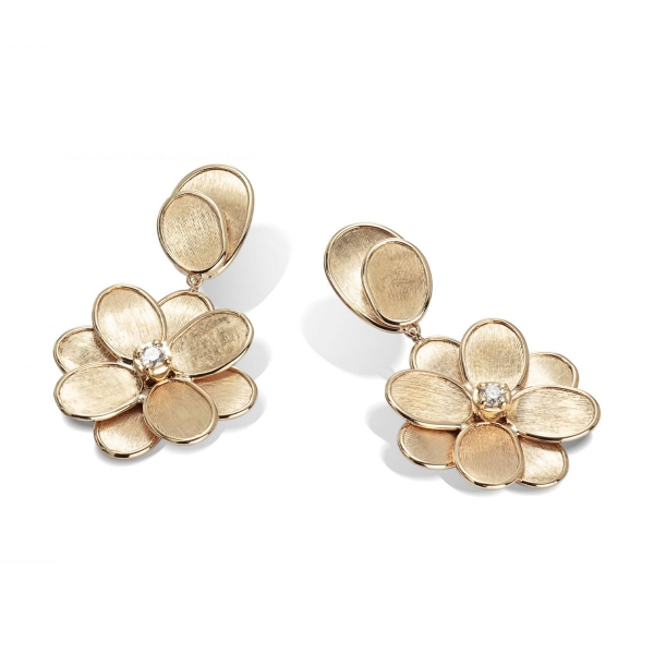 Marco Bicego Ohrringe Gold mit Diamanten Petali OB1679 B Y