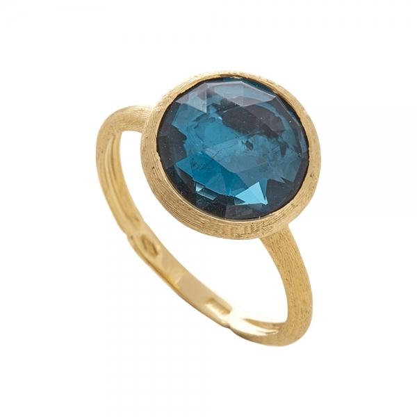 Marco Bicego Jaipur Ring mit blauem London-Topas Edelstein Gold AB586-TPL01-Y | UHREN01
