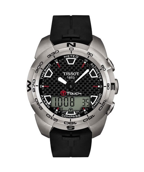 Tissot T-Touch Expert Titanium Kautschuk-Armband schwarz T013.420.47.201.00