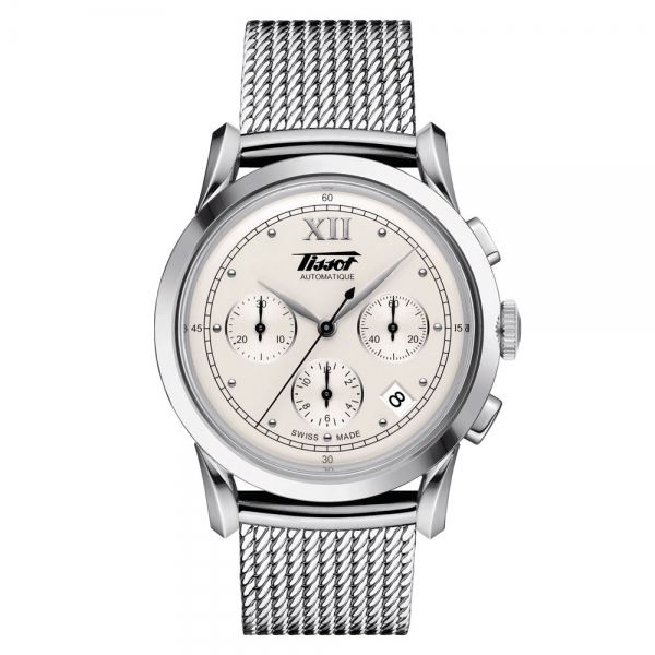 Tissot Heritage 1948 Automatic Chronograph Silber Milanaise-Armband 39mm T66.1.782.33