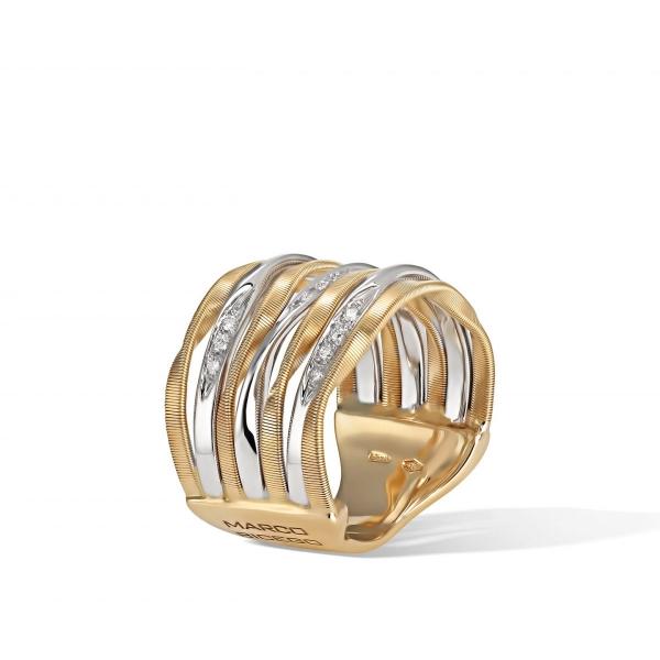 Marco Bicego Ring Gold mit Diamanten Marrakech Onde AG350-B