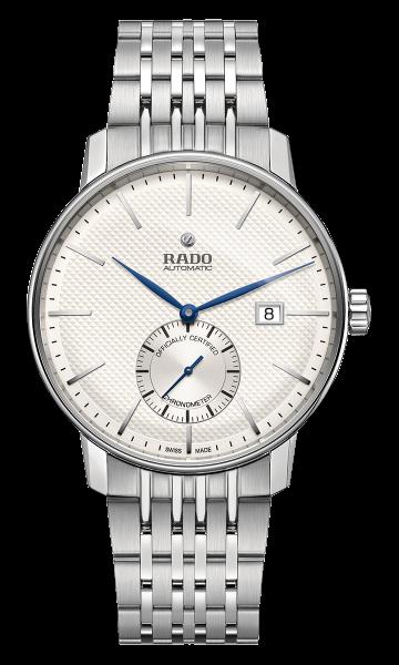 Rado Coupole Classic 41mm Automatik COSC Herrenuhr mit weißem Zifferblatt R22880013