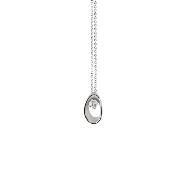 Annamaria Cammilli Halskette White Ice Weißgold 18 Karat Anhänger mit Diamanten Dune Assolo GPE1548W | UHREN01