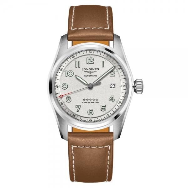 Longines Spirit 40mm Silber Leder-Armband Automatik L3.810.4.73.2   Uhren01