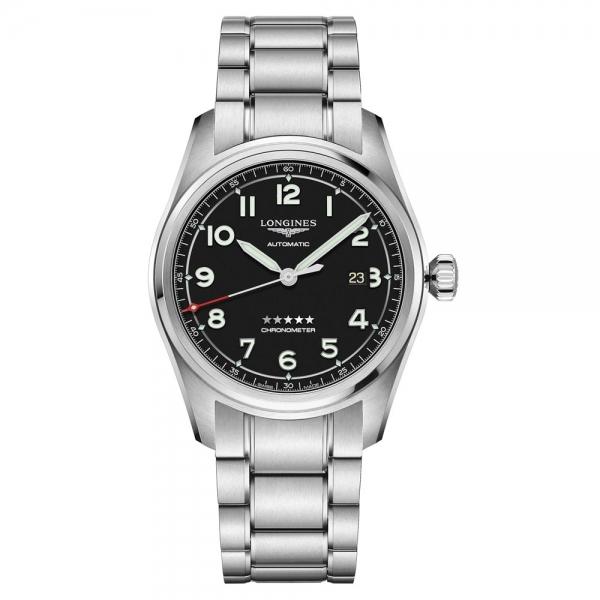 Longines Spirit Automatic 42mm Schwarz Edelstahl-Armband L3.811.4.53.6 | Uhren01