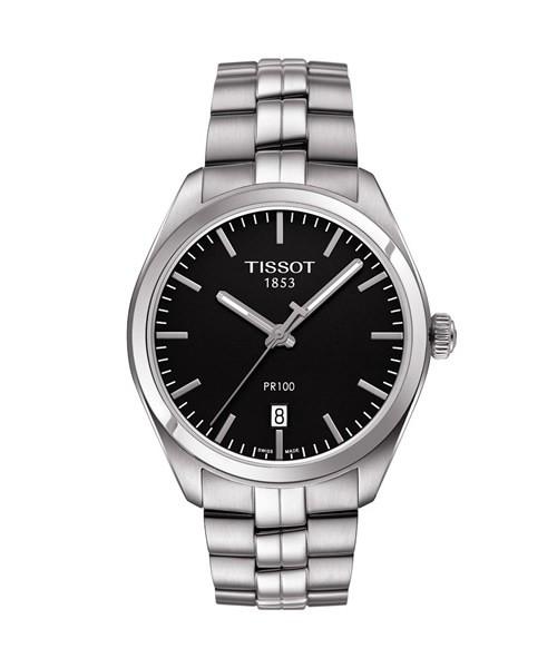 Tissot PR 100 Schwarz Herrenuhr 39mm Quarz Edelstahl-Armband T101.410.11.051.00