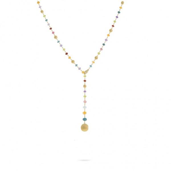Marco Bicego Damen Halskette Africa mit 18 Karat Gelbgold und EdelsteinTropfen CB2344-B MIX02