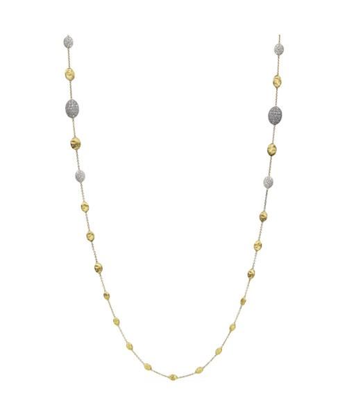 Marco Bicego Halskette Siviglia Goldkette 18kt mit Diamanten CB1731-B2  | UHREN01
