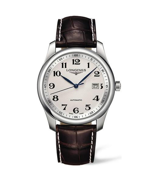 Longines Master Collection Automatic Herren Uhr Edelstahl weiß Leder-Armband braun L2.793.4.78.3 zum günstigen Preis online kaufen | UHREN01